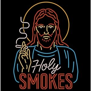Holy Smokes T-Shirt (Unique Funny Neon Design)